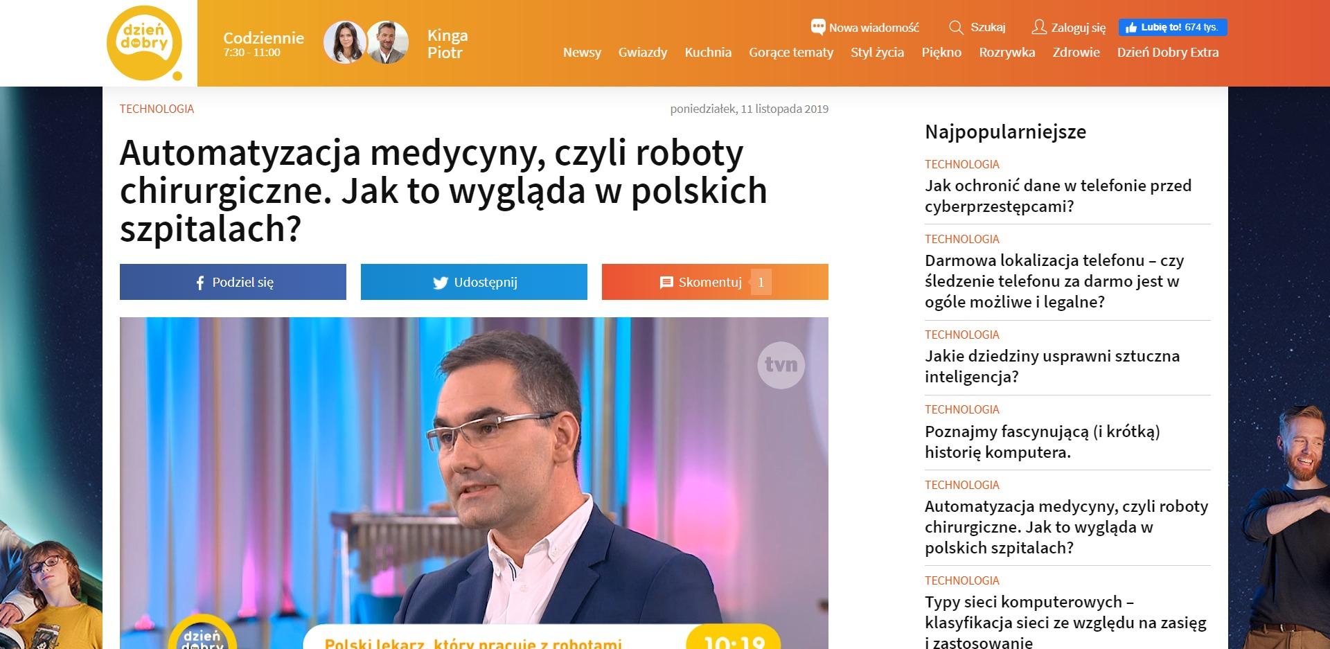 Automatyzacja medycyny, czyli roboty chirurgiczne. Jak to wygląda w polskich szpitalach