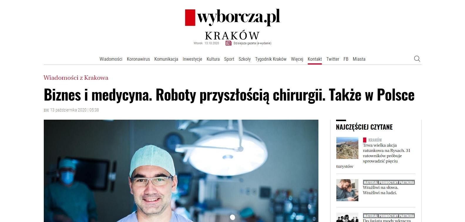 biznes i medycyna roboty przyszloscia chirurgii takze w polsce