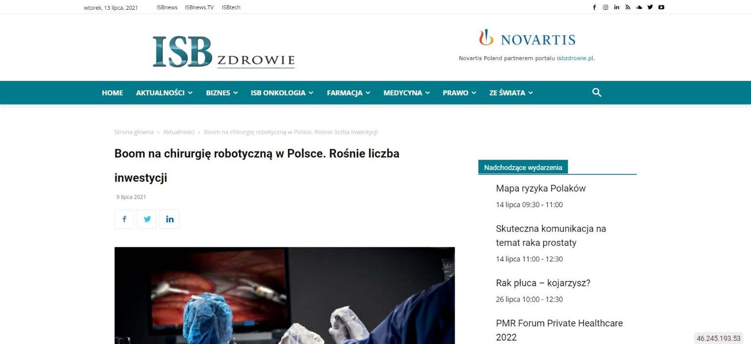 boom na chirurgie robotyczna w polsce rosnie liczba inwestycji