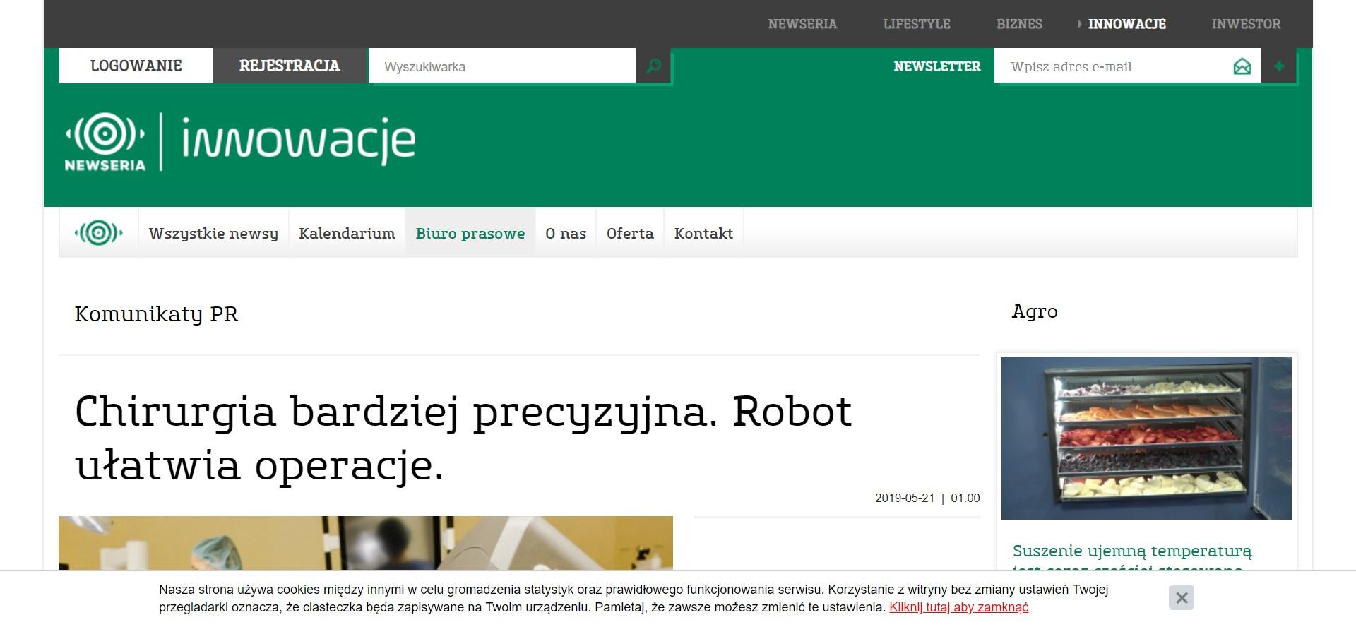 Chirurgia bardziej precyzyjna. Robot ułatwia operacje.