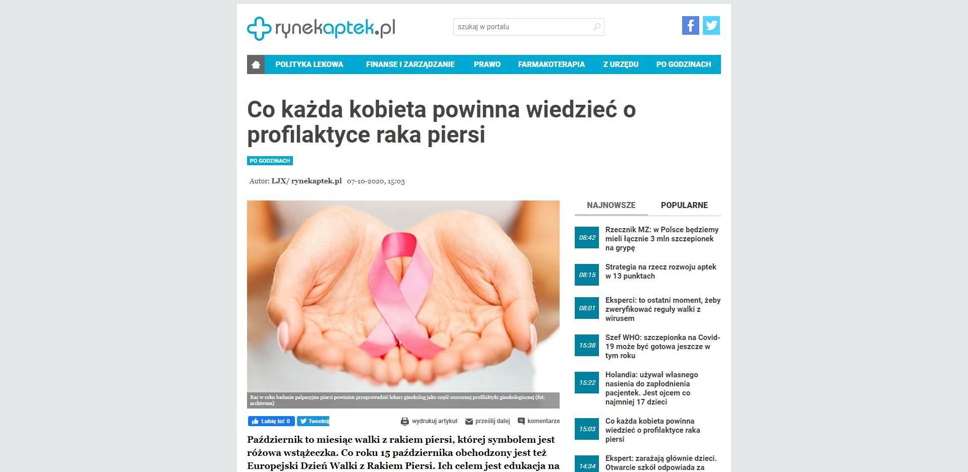 co kazda kobieta powinna wiedziec o profilaktyce raka piersi