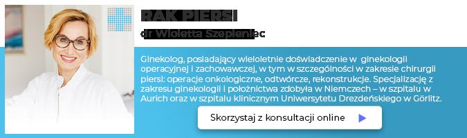 Konsultacje online dr Wioletta Szepieniec Rak Piersi