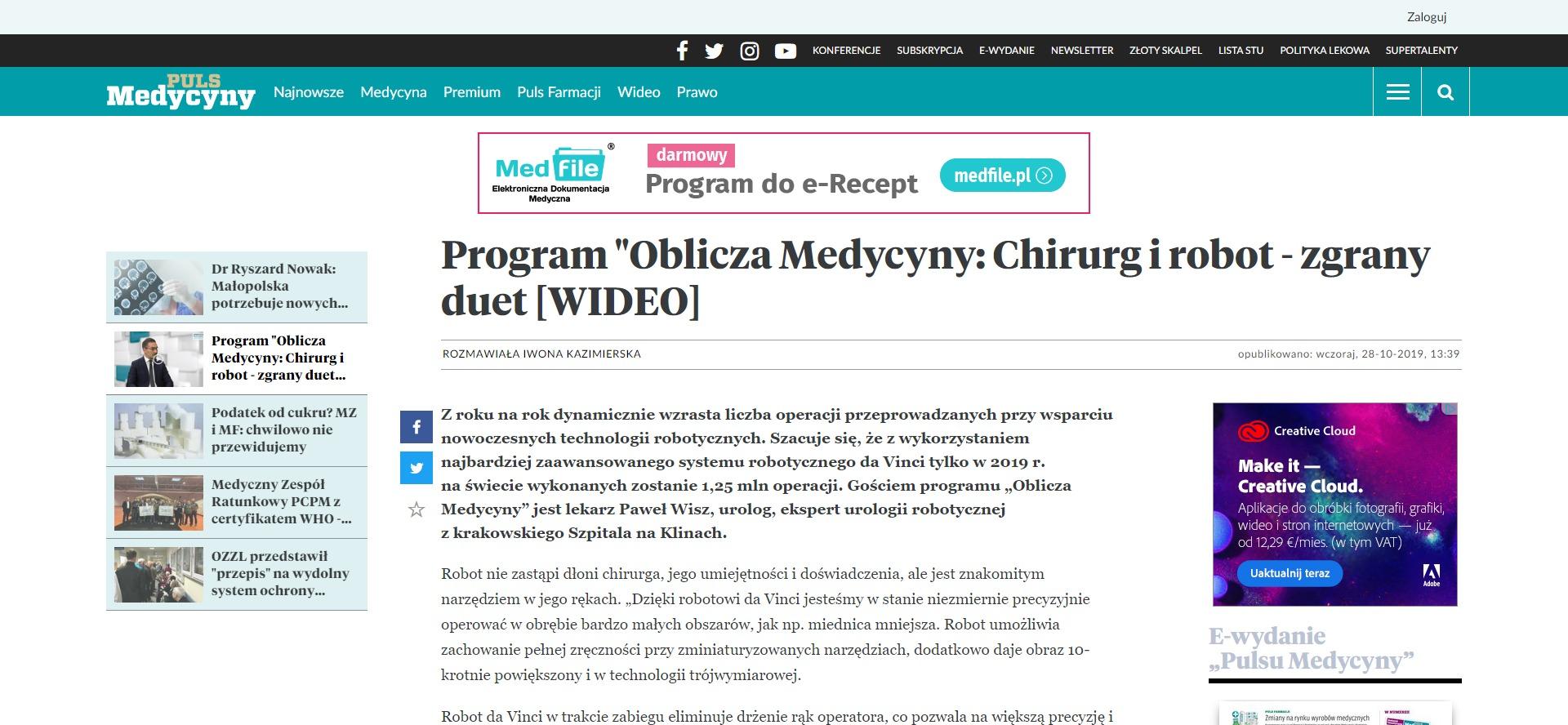 Program Oblicza Medycyny_ Chirurg i robot - zgrany duet