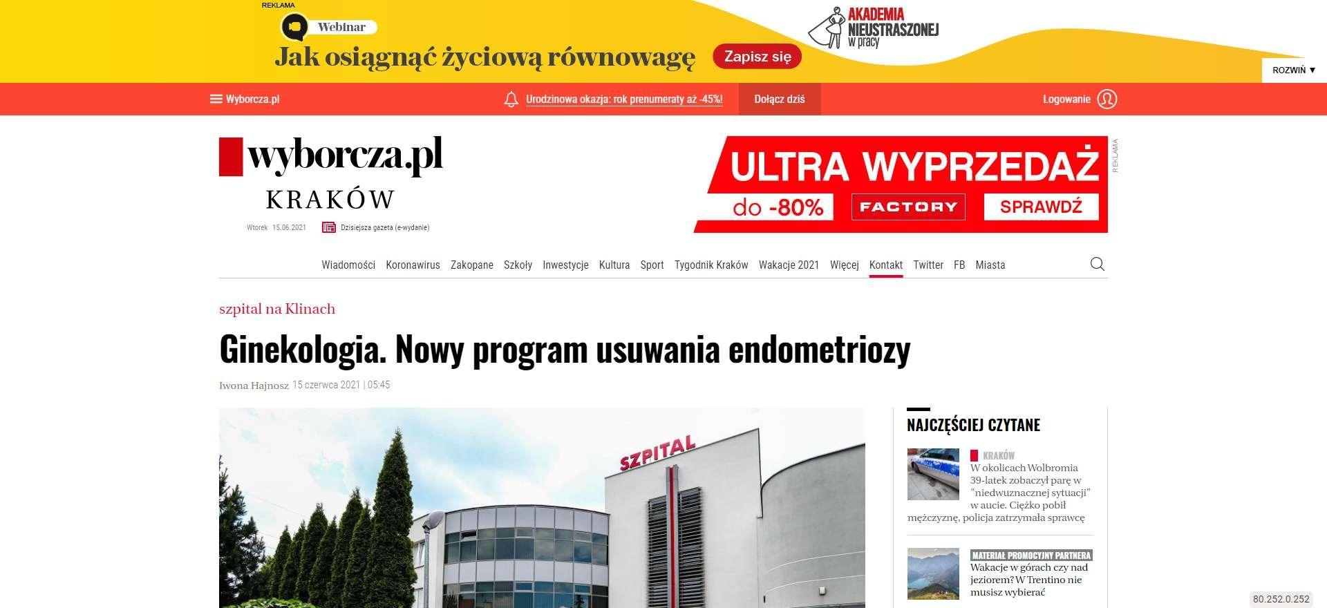 ginekologia nowy program usuwania endometriozy