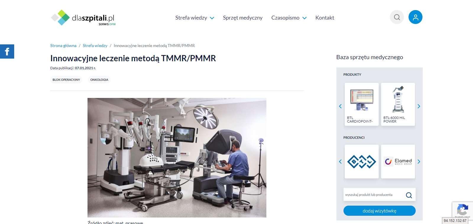 innowacyjne leczenie metoda tmmr pmmr