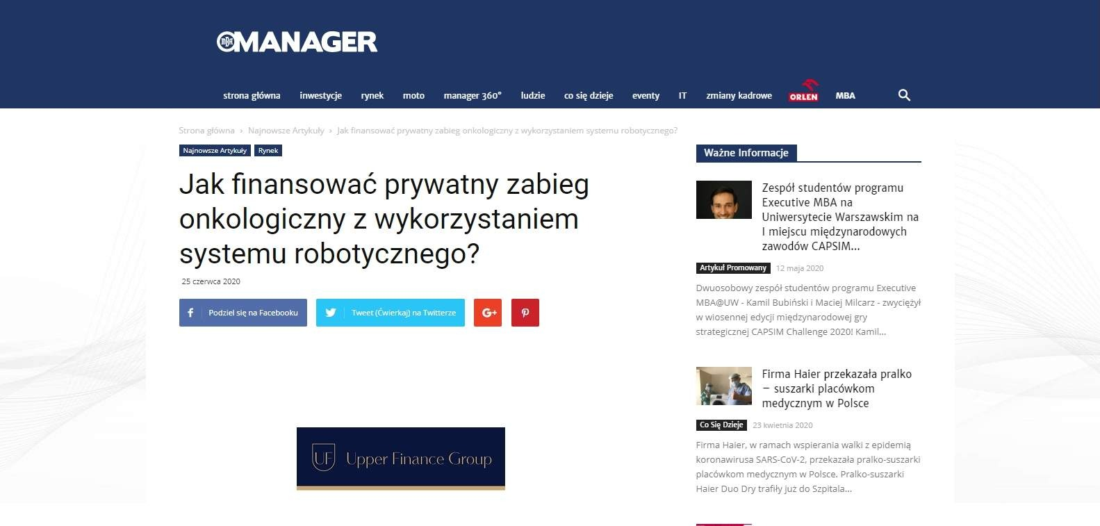 jak finansowac prywatny zabieg onkologiczny z wykorzystaniem systemu robotycznego