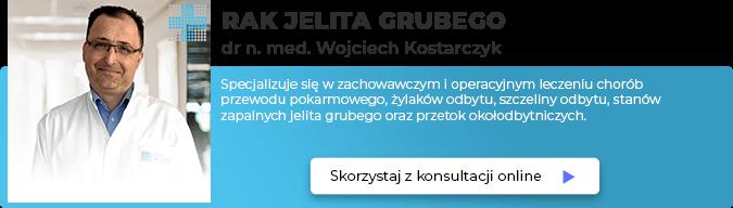 Dr n. med. Wojciech Kostarczyk – chirurg ogólny, proktolog, gastrolog