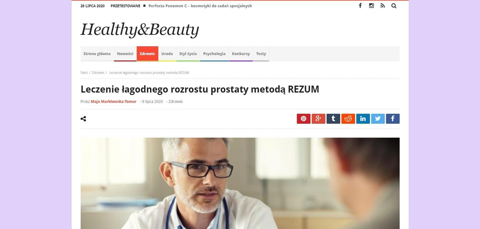 leczenie lagodnego rozrostu prostaty metoda rezum