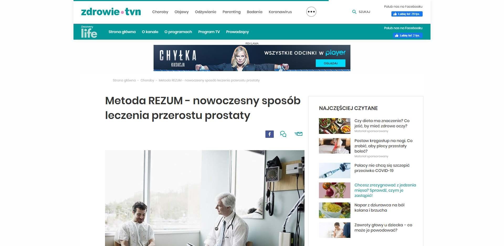 metoda rezum nowoczesny sposob leczenia przerostu prostaty