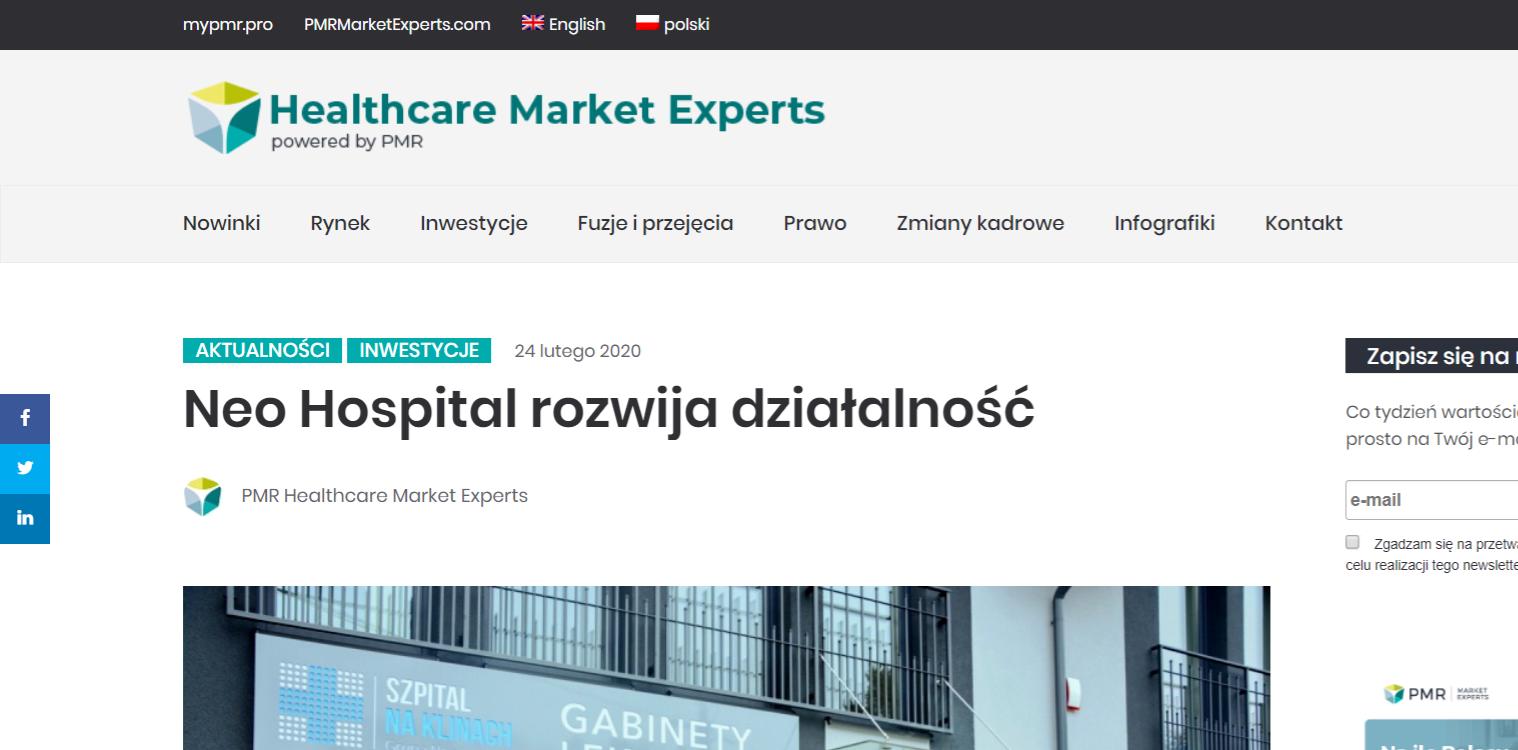 Neo Hospital rozwija działalność