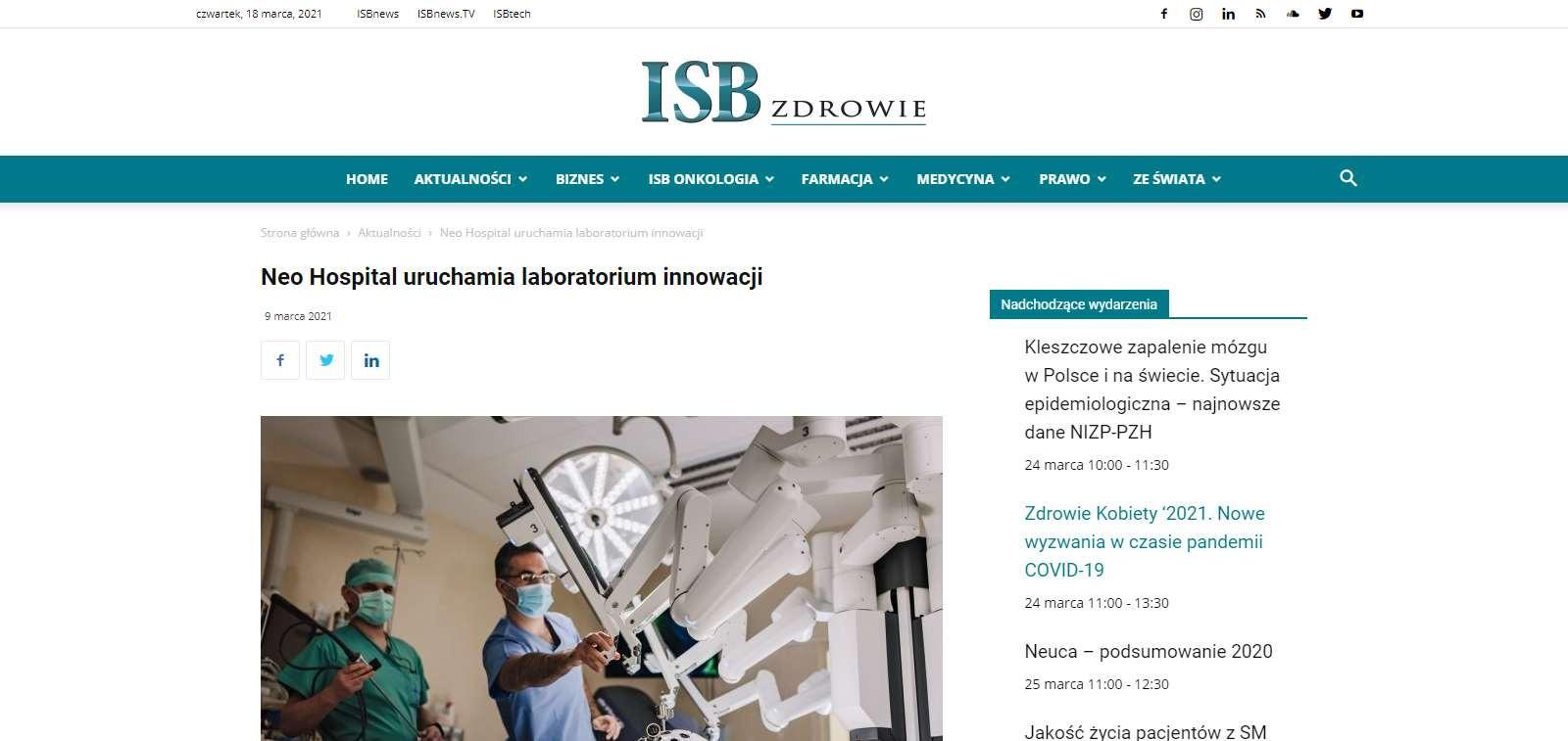 neo hospital uruchamia laboratorium innowacji