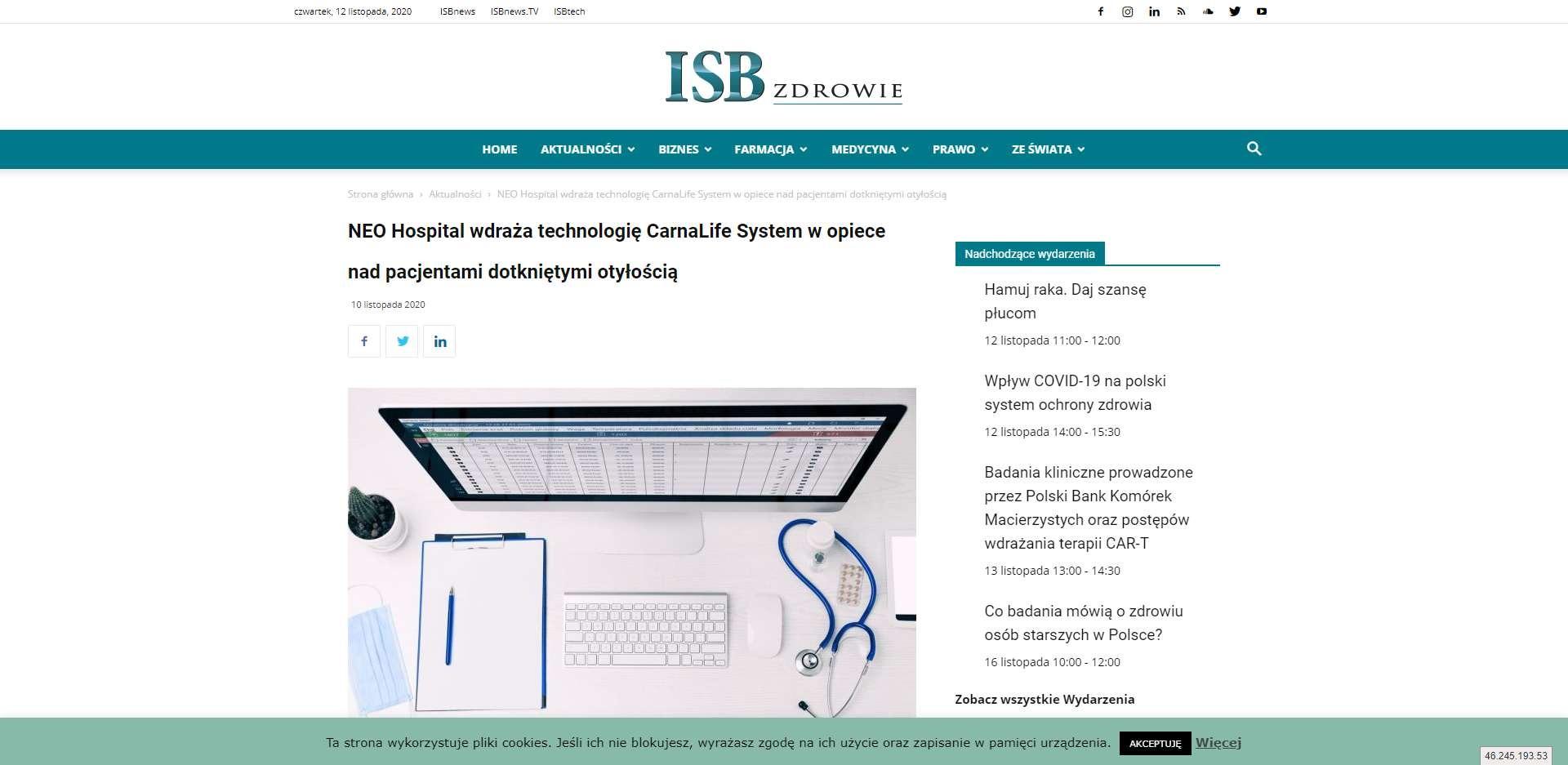 neo hospital wdraza technologie carnalife system w opiece nad pacjentami dotknietymi otyloscia