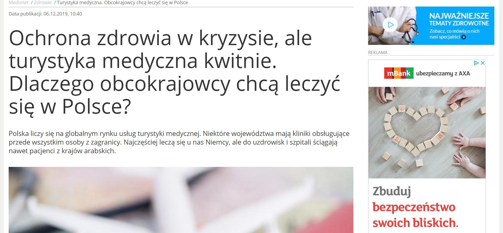 Ochrona zdrowia w kryzysie, ale turystyka medyczna kwitnie. Dlaczego obcokrajowcy chcą leczyć się w Polsce?