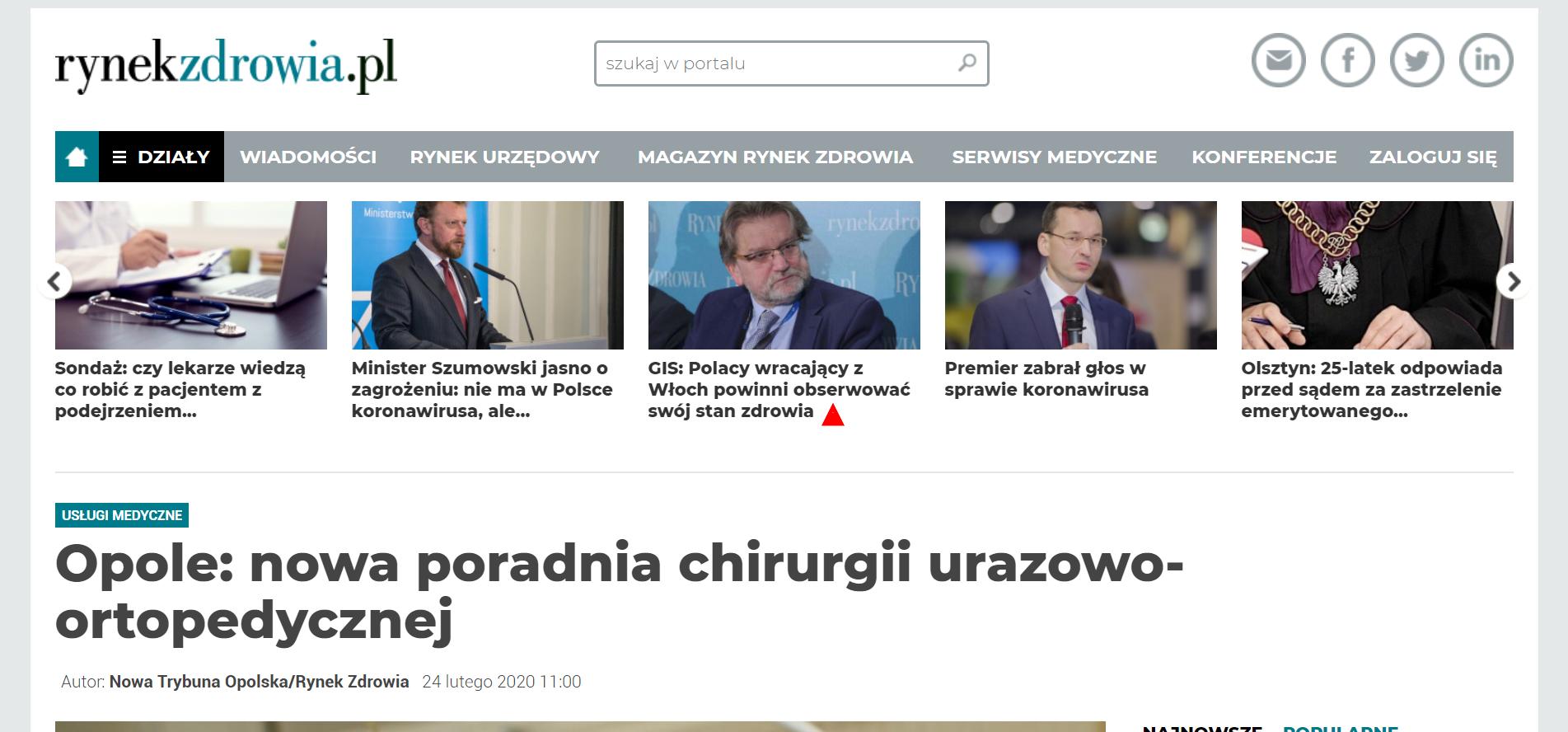 Opole: nowa poradnia chirurgii urazowo-ortopedycznej