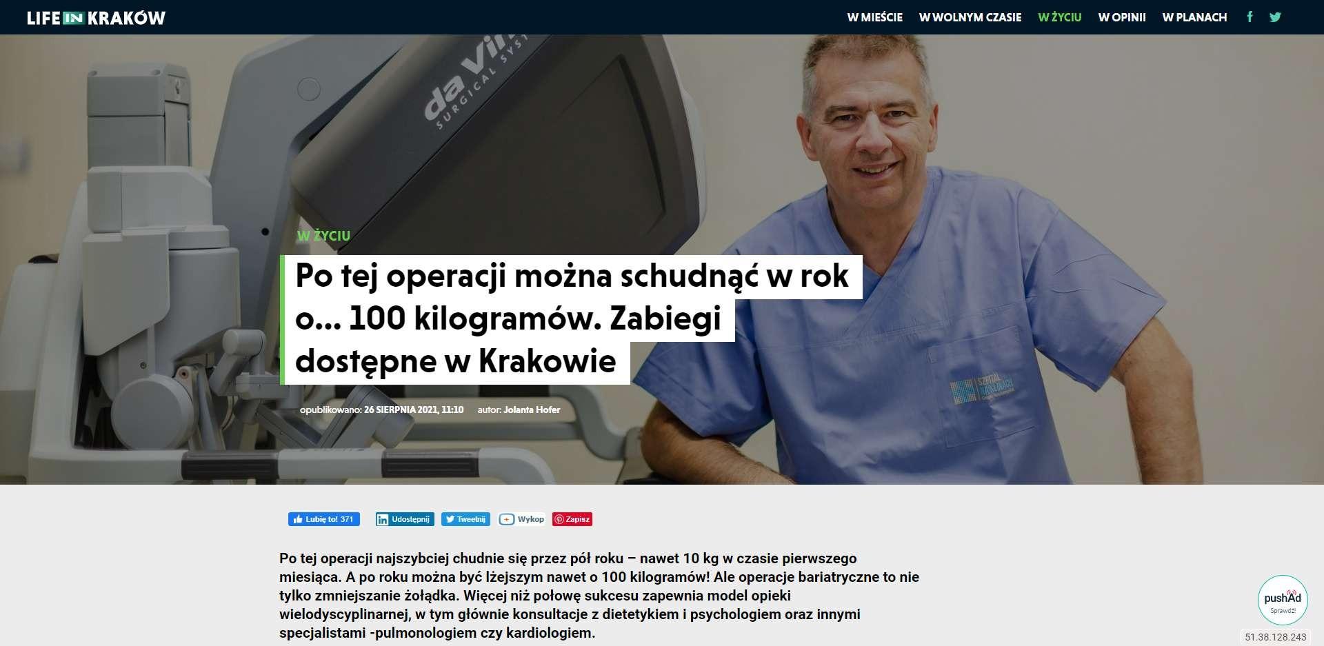 po tej operacji mozna schudnac w rok o kilogramow zabiegi dostepne w krakowie