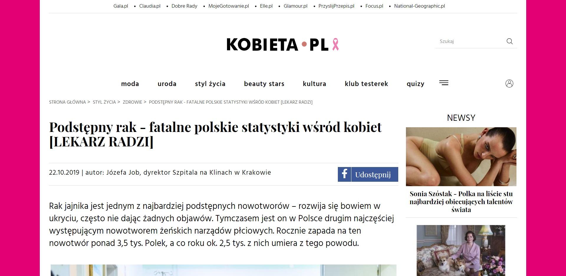 Podstępny rak - fatalne polskie statystyki wśród kobiet