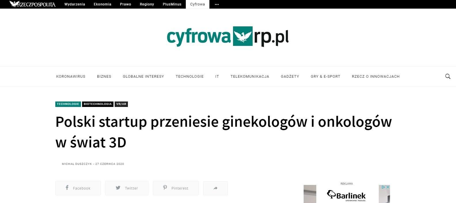polski startup przeniesie ginekologow i onkologow w swiat d