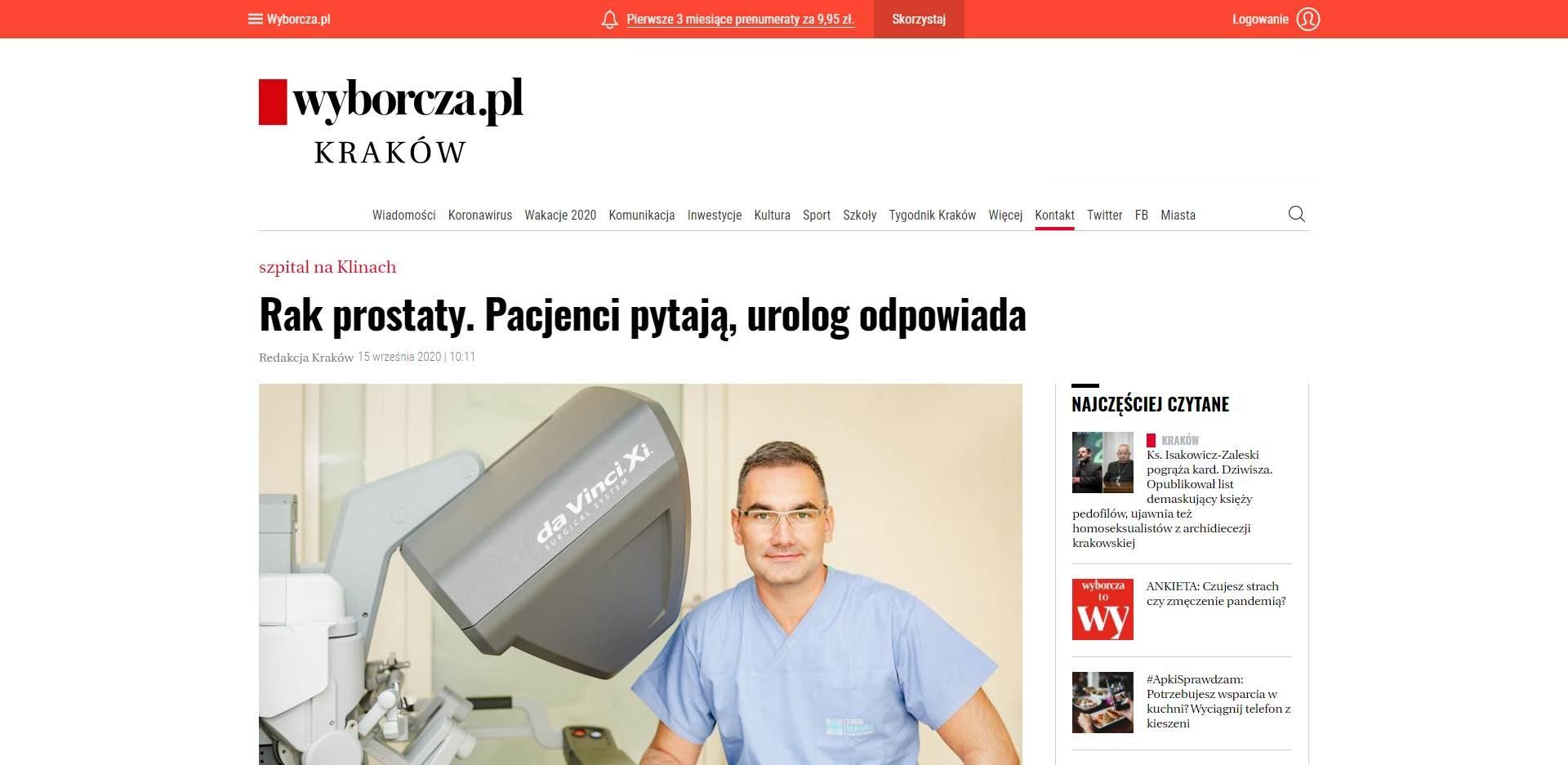 rak prostaty pacjenci pytaja urolog odpowiada