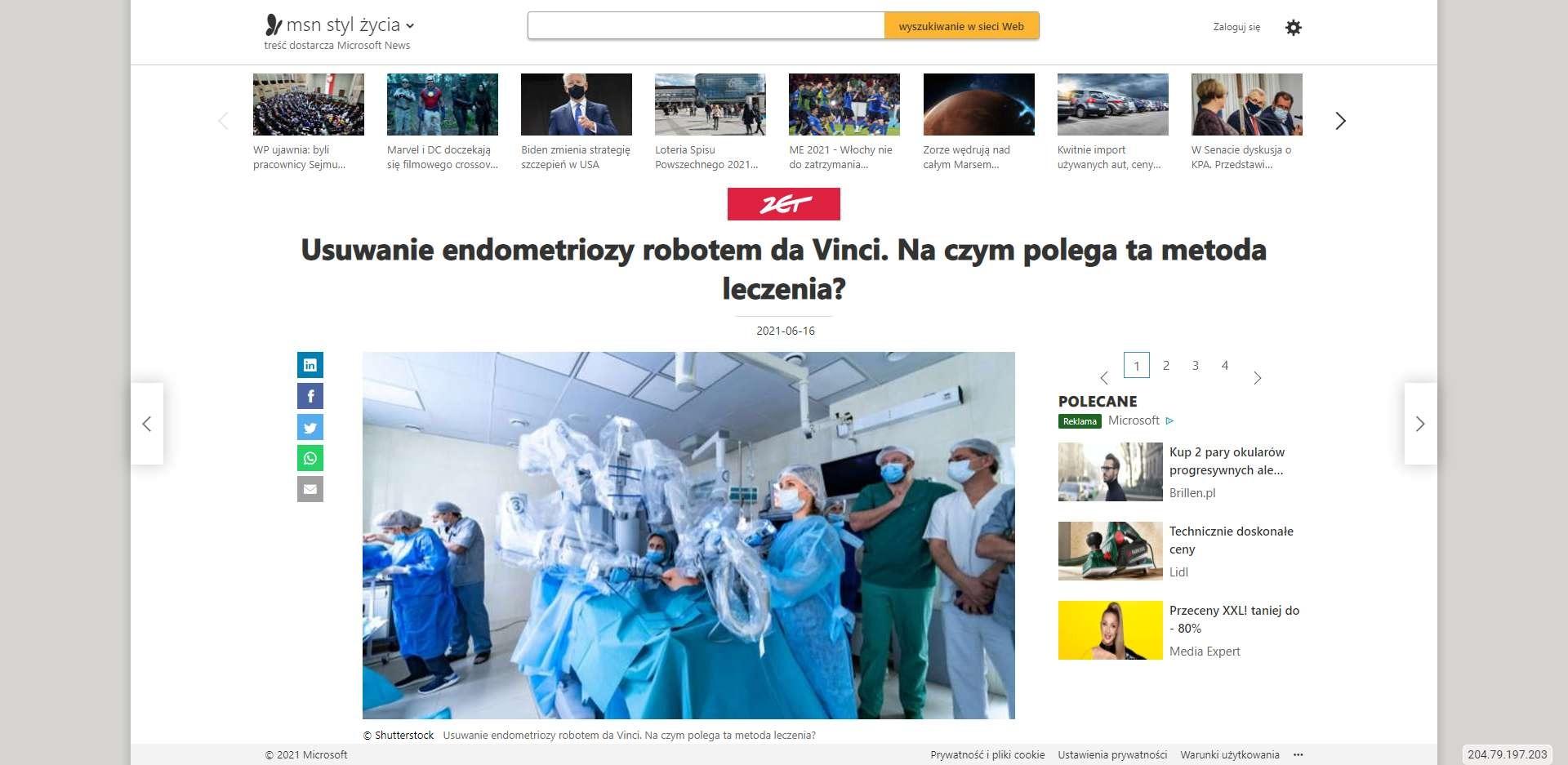 usuwanie endometriozy robotem da vinci na czym polega ta metoda leczenia