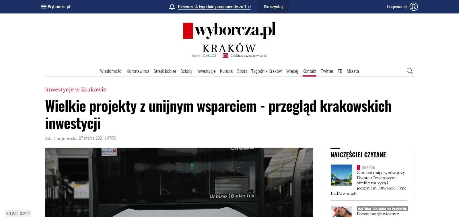 wielkie projekty z unijnym wsparciem przeglad krakowskich inwestycji